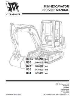 Download JCB 801.4 801.5 801.6 Mini Excavator Service