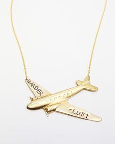 Wanderlust BIG Plane #jewelrydesign