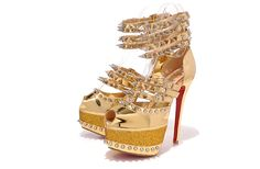 Christian Louboutin20thAnniversary Isolde160patent leather Gold