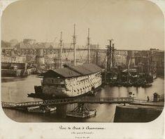 1861 - Pont de Brest à Recouvrance, vue prise de l'arsenal ; © Sebastien Dondain