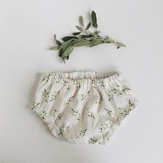 Spring Sage Handmade Baby Bloomers in LINEN by Under A Tin Roof on Etsy