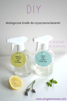 DIY ekologiczne środki do czyszczenia łazienki Cleaning Hacks, Cleaning Supplies, No Waste, Hygge, Spray Bottle, Recycling, Soap, Diy, Amazing Ideas