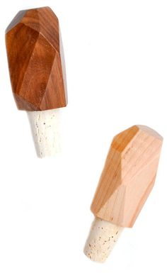 Faceted Wood Bottle Stopper | LEIF