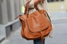 Perfect large bag from Chloe #leatherbags #spring #theblondesalad