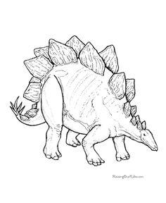Dinosaur - stegosaurus coloring picture 014