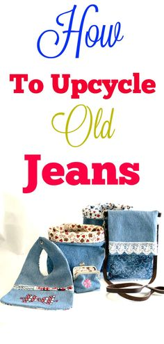 How to upcycle old Jeans. How to create new looks from old jeans. #upcycle #jeans #sewingtutorial