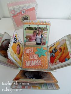 Mother's Day Explosion Scrapbook Box