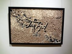 The End (Evelyn Prentice) | 2012 | Mixed seeds, beans and grains, graphite, adhesive | Tara Bursey.