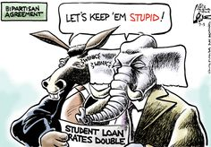 Student loan rates double.