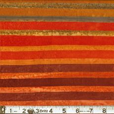 "Kaufman 7393 146 Mango  Elementals Collection. Stripes in mango, golden yellow, brown and tan. Cotton batik, 42-45"" wide. Ref # 7393146  $12..."
