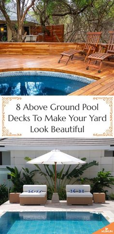 Above ground pool decks add immense value to your house. A neat deck is a perfect addition to your p Square Above Ground Pool, Above Ground Pool Decks, Above Ground Swimming Pools, In Ground Pools, Above Ground Pool Landscaping, Backyard Pool Landscaping, Swimming Pools Backyard, Patio, Landscaping Tips