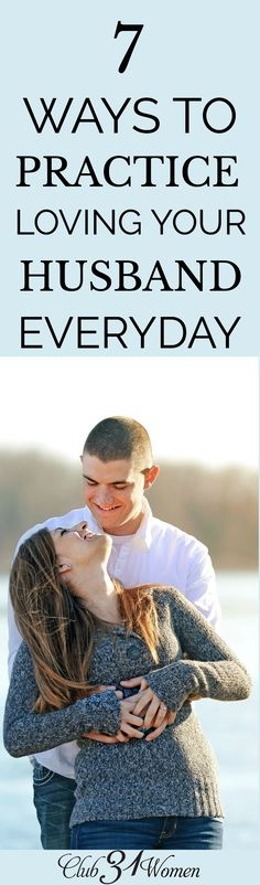 7 Ways to Practice Loving Your Husband Everyday What does love look like beyond what's easy to love? These 7 practical ways to practice loving your husband every day will help you break past boundaries! Biblical Marriage, Marriage Relationship, Marriage And Family, Happy Marriage, Marriage Advice, Family Life, Strong Marriage, Christian Wife, Christian Marriage