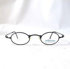 f1904cba5c vintage 1990 s millenium eyeglasses black metal wire frames prescription  lenses eyewear womens mens retro eye glasses round NOS deadstock