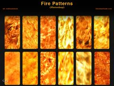 Fire Photoshop Patterns by redheadstock.deviantart.com on @DeviantArt