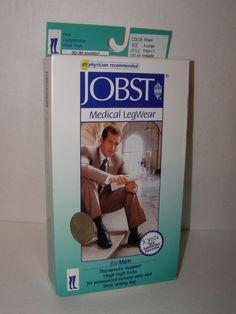 Jobst Medical Legwear Mens 20-30 mmHg XL Thigh High Khaki Firm Socks Closed Toe #JOBST