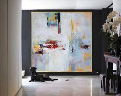 Arte de la lona de la pintura de la lona grande por CelineZiangArt