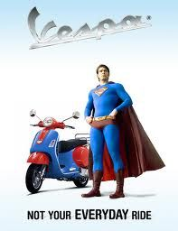 Super Man has a Scooter!!!