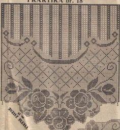 Szydełkomania: Zazdrostka Filet Crochet Charts, Crochet Diagram, Crochet Motif, Crochet Designs, Crochet Doilies, Crochet Stitches, Doily Patterns, Crochet Patterns, Fillet Crochet