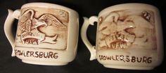 "Historical Memorabilia!  A set of 2 vintage #VFW #Growlersburg, CA #Mugs #Post9241 dated 1972. VETERANS OF FOREIGN WARS 2 MUGS VFW Growlersburg CA Handmade 1972 White Eagle 3"""