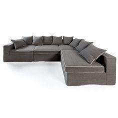 landelijk romantische stoel in antraciet/beige  Romantische woonkamer ...