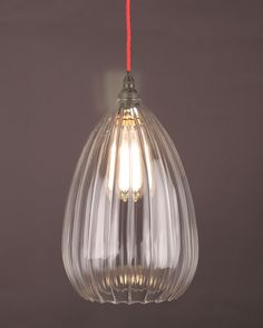 Our stunning new handblown Wellington Ribbed Glass Pendant is available now at www.fritzfryer.co.uk