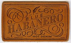 Leather label for denim Panama Trimmings - Italy