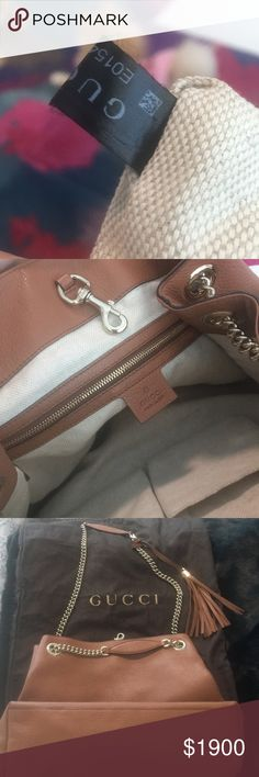fcee99fd0e86 Authentic GUCCI PURSE CAMEL GUCCI SOHO medium leather purse..Authentic.  Made in Italy
