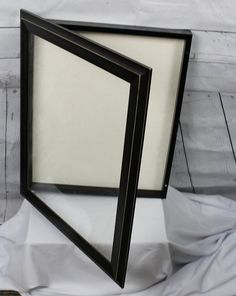 Black ShadowBox 20 X 15 With Glass Framed By SouthLakeThreadsCom