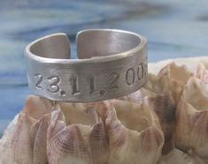 Band ring finger ring in aluminum stamped with engraving hand personalized wish text gift boyfriend friend farewell lucky charm Hand Gestempelt, Aluminium, Cuff Bracelets, Etsy, Jewelry, Personalised Jewellery, Ideas For Gifts, Gifts For Women, Silver