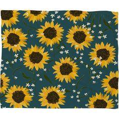 Joy Laforme Summer Garden Sunflowers Fleece Throw Blanket | DENY Designs Home Accessories