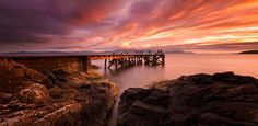 i would love to go here.  Portencross Pier in Scotland at sunset.  Picture: ROD HANCHARD-GOODWIN