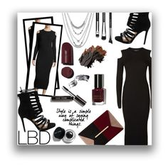 """""""Simple LBD"""" by kioriknight ❤ liked on Polyvore featuring Lucky Brand, Theory, Bobbi Brown Cosmetics, MAC Cosmetics and Dune"""