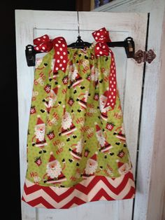 Christmas pillow case dress for Birdie!