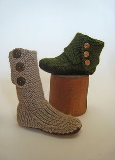 Cannot wait to knit these! And I saw actual soles at Micheal's that should work with this pattern!