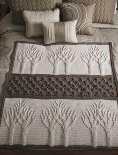 Tree of Life Afghan Free Crochet Pattern #crochetblankets