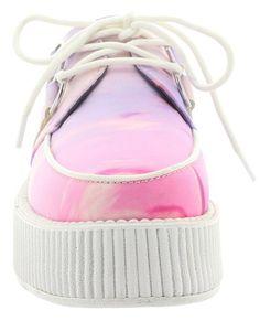 T.U.K. Creeper PASTEL CLOUDSCAPE MONDO white Mehrfarbig 36: Amazon.de: Schuhe & Handtaschen