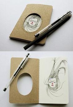 Altered Moleskine by Heidi Burton (DiY idea?)