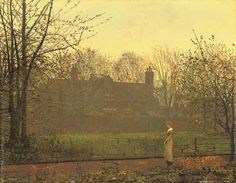 """""""The Chill of Autumn"""" by John Atkinson Grimshaw"""
