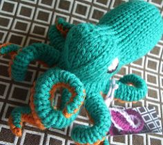 Now, you too can knit your very own octopus amigurumi! This sweet cephalopod can be a lovely toy for a child or a sophisticated addition to a plush collection.