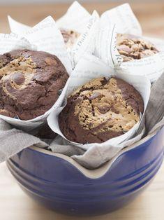 Objetivo: Cupcake Perfecto.: Muffins de chocolate con mantequilla de cacahuete Cupcakes, Anna Olson, Ice Cream, Tasty, Chocolate, Desserts, Food, Goal, Peanut Butter