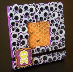 googly eye picture frame. #halloween #craft
