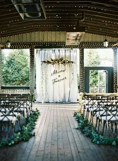 Recreate these backdrops for your ceremony and awesome photo ops ...