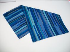 vintage blue scarf blue print scarf by ALEXLITTLETHINGS on Etsy
