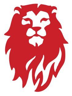 Red Lion Logo Lion head alone