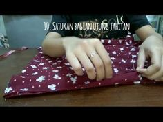 How to sew hijab instant (menjahit hijab instant) - YouTube