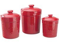 Ruby Set of 3 Sorrento Canisters by Signature Housewares