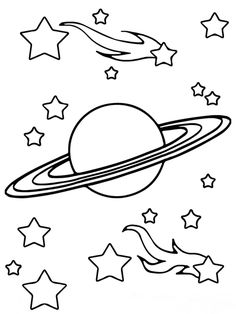 Neptune planet coloring pages | okuloncesi | Gezegenler ...