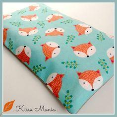* Collection Noël * Bouillotte sèche déhoussable, bouillotte aux graines de lin BIO, tissu japonais motif petits renards. : Soin, bien-être par kissa-mania