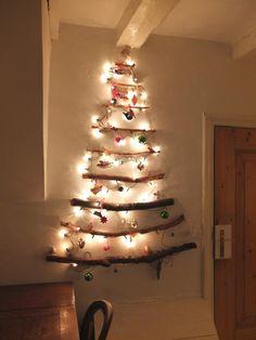 Originele kerstboom van takken