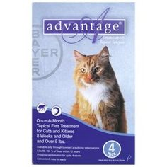 4 Month Supply Advantage for Cats Over 18 lbs Bayer Healthcare http://www.amazon.com/dp/B002YOMQNE/ref=cm_sw_r_pi_dp_G7ICub0G51QSX